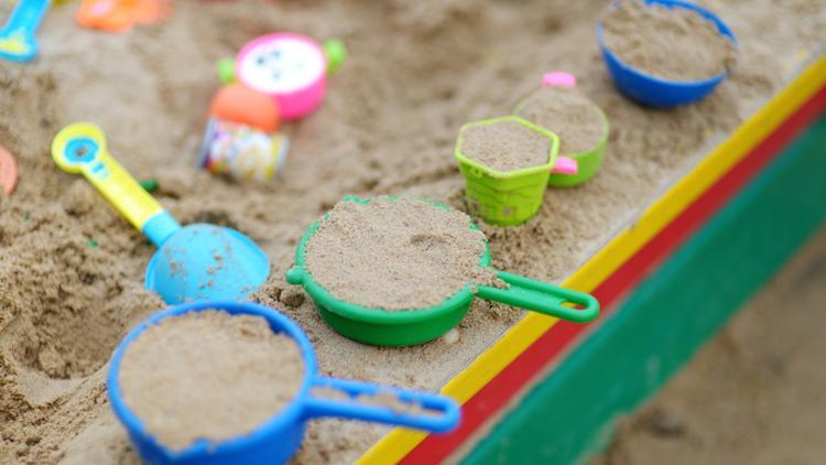 bábovičky na pískovišti
