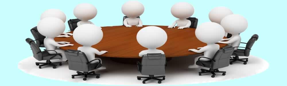 grafika postavy kolem stolu